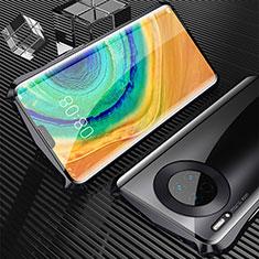 Handyhülle Hülle Luxus Aluminium Metall Rahmen Spiegel 360 Grad Tasche M05 für Huawei Mate 30 Schwarz