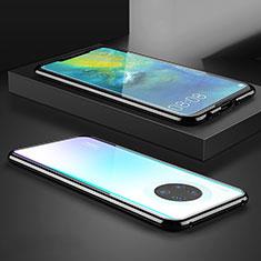 Handyhülle Hülle Luxus Aluminium Metall Rahmen Spiegel 360 Grad Tasche M07 für Huawei Mate 30 5G Schwarz