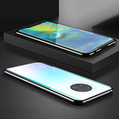 Handyhülle Hülle Luxus Aluminium Metall Rahmen Spiegel 360 Grad Tasche M07 für Huawei Mate 30 Schwarz