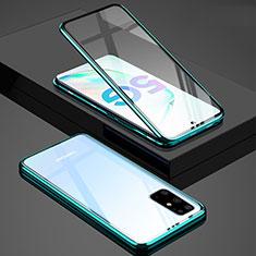 Handyhülle Hülle Luxus Aluminium Metall Rahmen Spiegel 360 Grad Tasche T02 für Samsung Galaxy S20 Plus Grün