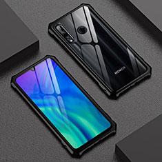 Handyhülle Hülle Luxus Aluminium Metall Rahmen Spiegel 360 Grad Tasche T03 für Huawei Honor 20 Lite Schwarz