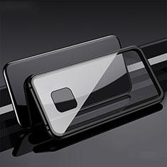 Handyhülle Hülle Luxus Aluminium Metall Rahmen Spiegel 360 Grad Tasche T08 für Huawei Mate 20 Pro Schwarz