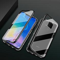 Handyhülle Hülle Luxus Aluminium Metall Rahmen Spiegel 360 Grad Tasche T09 für Huawei Mate 20 Pro Schwarz