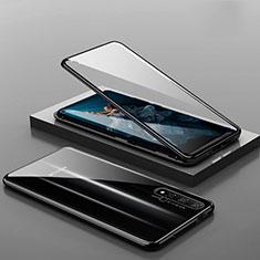 Handyhülle Hülle Luxus Aluminium Metall Rahmen Spiegel 360 Grad Tasche T10 für Huawei Honor 20 Schwarz