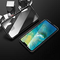 Handyhülle Hülle Luxus Aluminium Metall Rahmen Spiegel 360 Grad Tasche T12 für Huawei Mate 20 Pro Schwarz