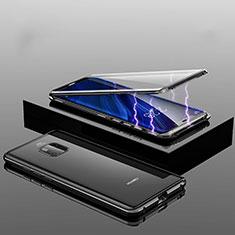 Handyhülle Hülle Luxus Aluminium Metall Rahmen Spiegel 360 Grad Tasche T14 für Huawei Mate 20 Pro Schwarz