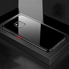 Handyhülle Hülle Luxus Aluminium Metall Rahmen Spiegel 360 Grad Tasche T15 für Huawei Mate 20 Pro Schwarz