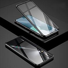 Handyhülle Hülle Luxus Aluminium Metall Rahmen Spiegel 360 Grad Tasche Z01 für Huawei Nova 6 5G Schwarz
