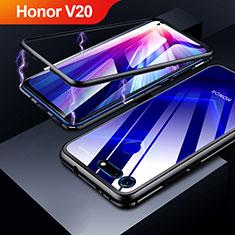 Handyhülle Hülle Luxus Aluminium Metall Rahmen Spiegel Tasche für Huawei Honor V20 Schwarz