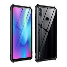 Handyhülle Hülle Luxus Aluminium Metall Rahmen Spiegel Tasche für Huawei P Smart (2019) Schwarz