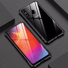 Handyhülle Hülle Luxus Aluminium Metall Rahmen Spiegel Tasche für Samsung Galaxy A8s SM-G8870 Schwarz