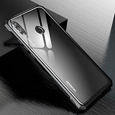 Handyhülle Hülle Luxus Aluminium Metall Rahmen Spiegel Tasche M01 für Huawei Honor View 10 Lite Schwarz