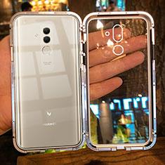 Handyhülle Hülle Luxus Aluminium Metall Rahmen Spiegel Tasche M01 für Huawei Mate 20 Lite Gold