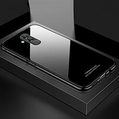 Handyhülle Hülle Luxus Aluminium Metall Rahmen Spiegel Tasche M02 für Huawei Mate 20 Lite Schwarz