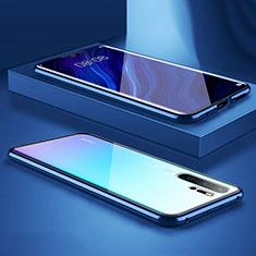 Handyhülle Hülle Luxus Aluminium Metall Rahmen Spiegel Tasche M05 für Huawei P30 Pro Blau