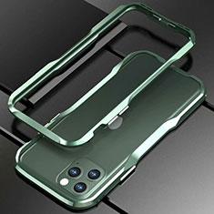 Handyhülle Hülle Luxus Aluminium Metall Rahmen Tasche für Apple iPhone 11 Pro Grün