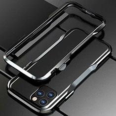 Handyhülle Hülle Luxus Aluminium Metall Rahmen Tasche für Apple iPhone 11 Pro Max Schwarz