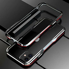 Handyhülle Hülle Luxus Aluminium Metall Rahmen Tasche für Apple iPhone 11 Rot und Schwarz