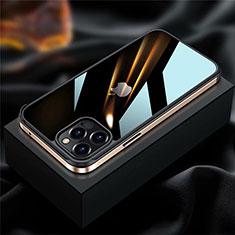 Handyhülle Hülle Luxus Aluminium Metall Rahmen Tasche für Apple iPhone 12 Pro Max Gold