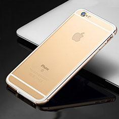 Handyhülle Hülle Luxus Aluminium Metall Rahmen Tasche für Apple iPhone 6 Gold