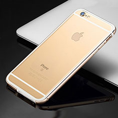 Handyhülle Hülle Luxus Aluminium Metall Rahmen Tasche für Apple iPhone 6S Gold