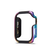 Handyhülle Hülle Luxus Aluminium Metall Rahmen Tasche für Apple iWatch 5 44mm Bunt