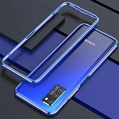 Handyhülle Hülle Luxus Aluminium Metall Rahmen Tasche für Huawei Honor View 30 5G Blau