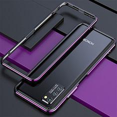 Handyhülle Hülle Luxus Aluminium Metall Rahmen Tasche für Huawei Honor View 30 5G Violett