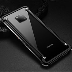 Handyhülle Hülle Luxus Aluminium Metall Rahmen Tasche für Huawei Mate 20 Pro Schwarz