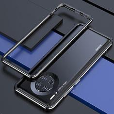 Handyhülle Hülle Luxus Aluminium Metall Rahmen Tasche für Huawei Mate 30 5G Schwarz