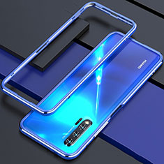 Handyhülle Hülle Luxus Aluminium Metall Rahmen Tasche für Huawei Nova 6 5G Blau