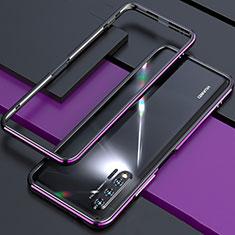 Handyhülle Hülle Luxus Aluminium Metall Rahmen Tasche für Huawei Nova 6 Violett