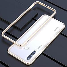 Handyhülle Hülle Luxus Aluminium Metall Rahmen Tasche für Huawei P30 Lite Gold