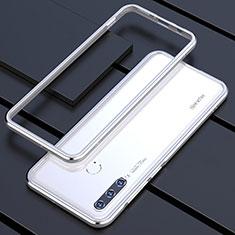 Handyhülle Hülle Luxus Aluminium Metall Rahmen Tasche für Huawei P30 Lite Silber