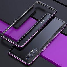 Handyhülle Hülle Luxus Aluminium Metall Rahmen Tasche für Oppo Reno3 Pro Violett