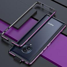 Handyhülle Hülle Luxus Aluminium Metall Rahmen Tasche für Vivo Nex 3S Violett