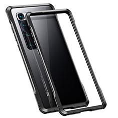 Handyhülle Hülle Luxus Aluminium Metall Rahmen Tasche für Xiaomi Mi 10 Ultra Schwarz