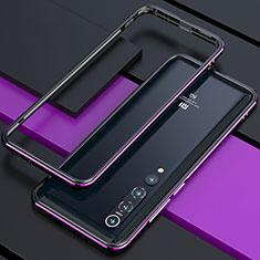 Handyhülle Hülle Luxus Aluminium Metall Rahmen Tasche für Xiaomi Mi 10 Violett