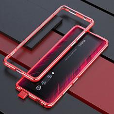Handyhülle Hülle Luxus Aluminium Metall Rahmen Tasche für Xiaomi Mi 9T Rot