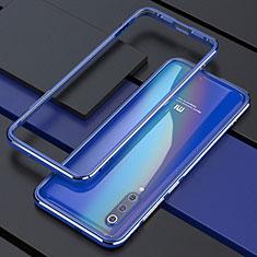 Handyhülle Hülle Luxus Aluminium Metall Rahmen Tasche für Xiaomi Mi A3 Lite Blau