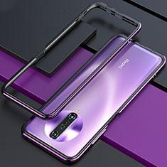 Handyhülle Hülle Luxus Aluminium Metall Rahmen Tasche für Xiaomi Poco X2 Violett