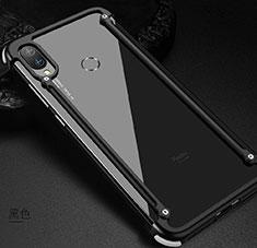 Handyhülle Hülle Luxus Aluminium Metall Rahmen Tasche für Xiaomi Redmi Note 7 Pro Schwarz