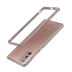Handyhülle Hülle Luxus Aluminium Metall Rahmen Tasche N03 für Samsung Galaxy Note 20 5G Bronze