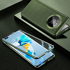 Handyhülle Hülle Luxus Aluminium Metall Tasche 360 Grad Ganzkörper K01 für Huawei Mate 40 Pro Orange