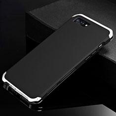 Handyhülle Hülle Luxus Aluminium Metall Tasche für Apple iPhone 8 Plus Silber und Schwarz