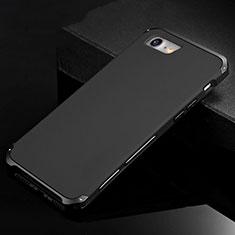 Handyhülle Hülle Luxus Aluminium Metall Tasche für Apple iPhone SE (2020) Schwarz