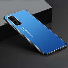 Handyhülle Hülle Luxus Aluminium Metall Tasche für Huawei Honor 30 Pro Blau