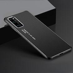 Handyhülle Hülle Luxus Aluminium Metall Tasche für Huawei Honor 30 Pro Schwarz