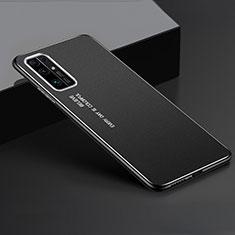 Handyhülle Hülle Luxus Aluminium Metall Tasche für Huawei Honor 30 Schwarz