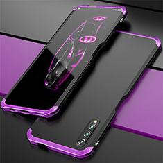 Handyhülle Hülle Luxus Aluminium Metall Tasche für Huawei Honor 9X Pro Violett